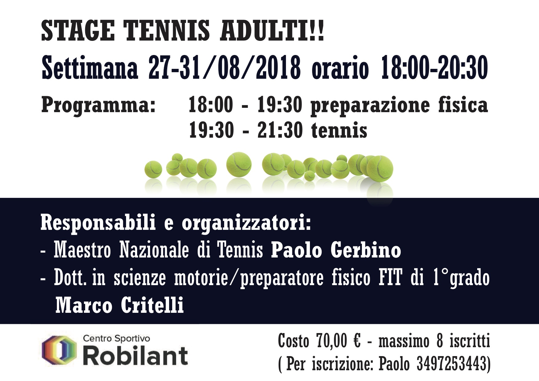 tennis adulti stage fly