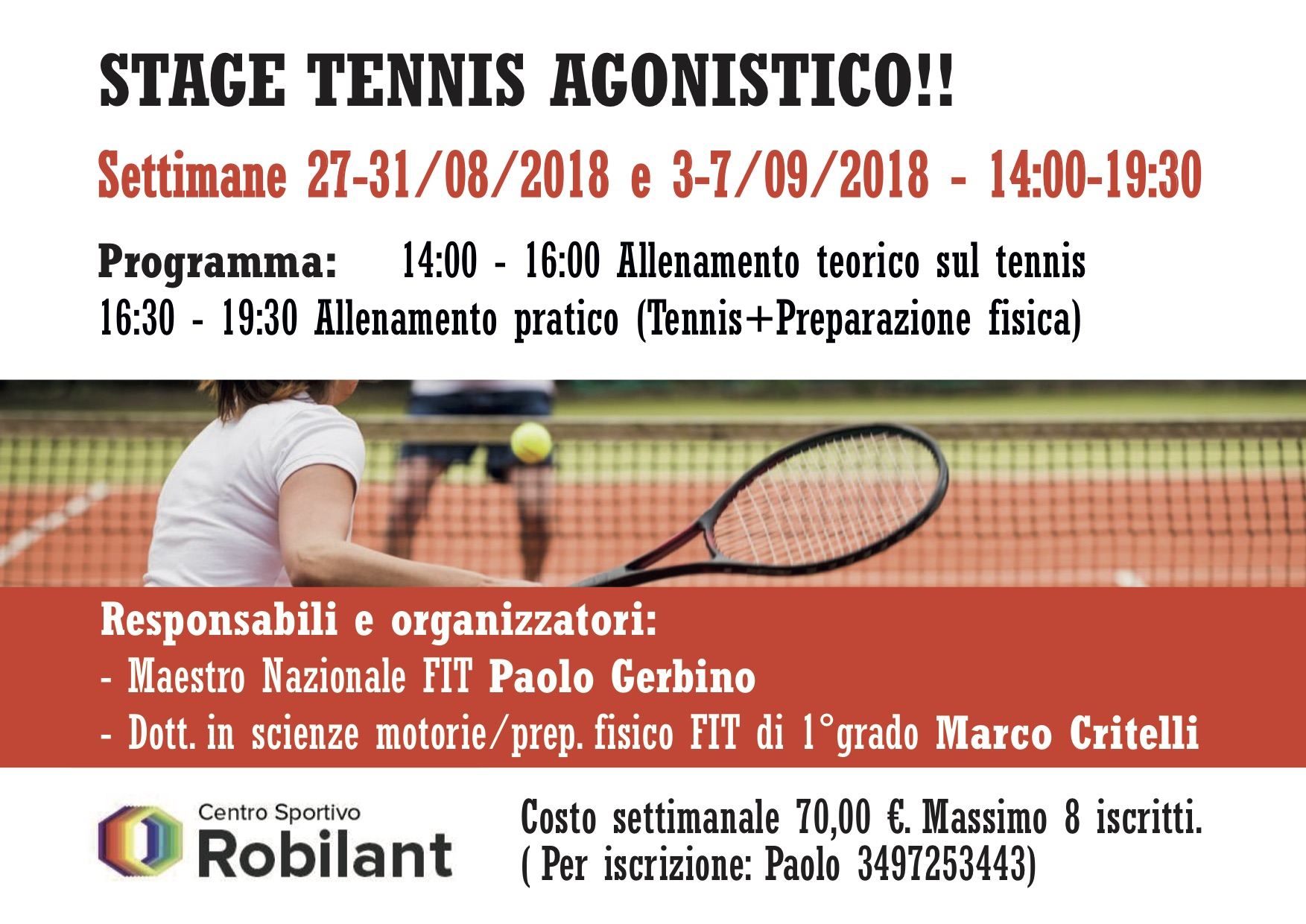 tennis agonisti stage fly